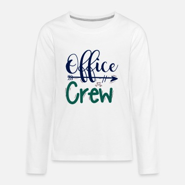 The Office office crew office team - Teenage Premium Longsleeve Shirt