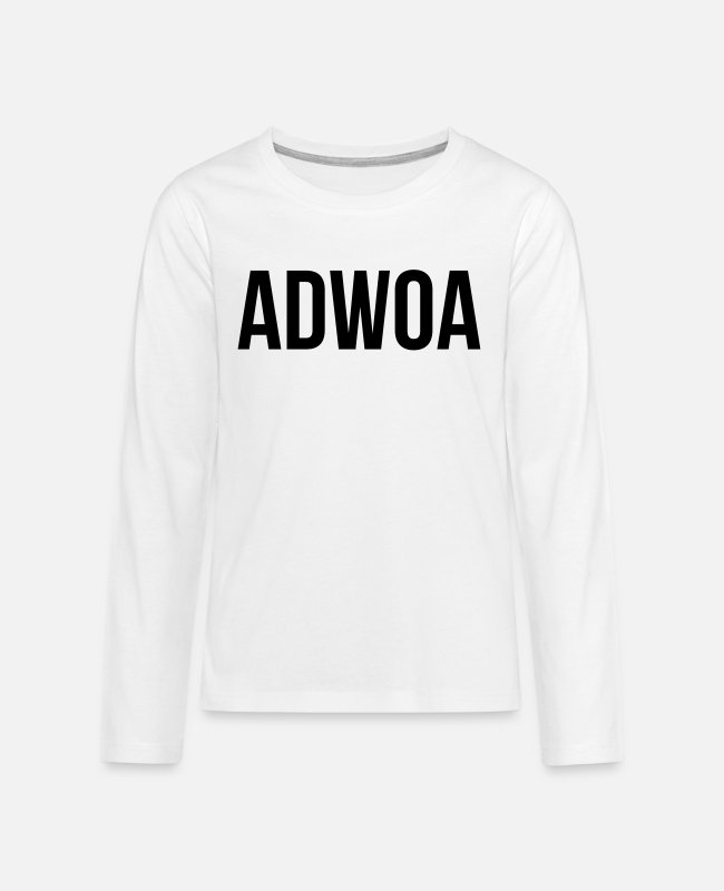 Proud Long-Sleeved Shirts - Adwoa - Teenage Premium Longsleeve Shirt white