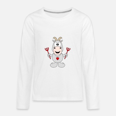 Goat Goat - Goat - Devil - Animal - Children - Love - Teenage Premium Longsleeve Shirt