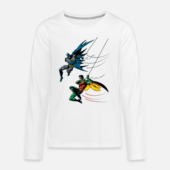 Robin Shirts met lange mouwen - Batman and Robin kinderen T-shirt - Teenager premium longsleeve wit
