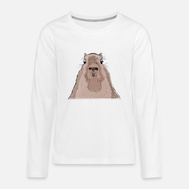 Animal Capybara - capybara - T-shirt manches longues premium Ado