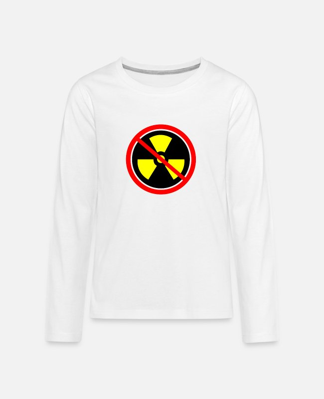 Chernobyl Long-Sleeved Shirts - Anti nuclear power Nuclear power stations Nuclear energy Atomic energy - Teenage Premium Longsleeve Shirt white