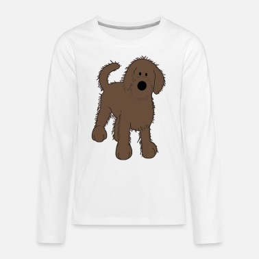 Picture Doggy Cute Dog Golden Doodle Vector - Teenage Premium Longsleeve Shirt