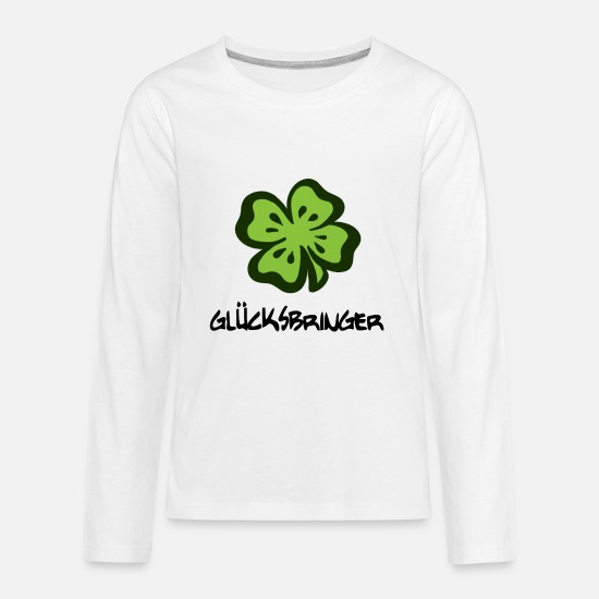 Gift Idea Long sleeve shirts - Lucky charm lucky clover - Teenage Premium Longsleeve Shirt white