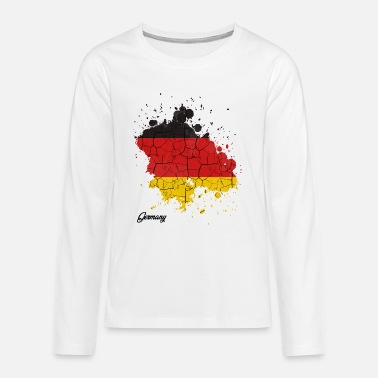 Federal Republic Of Germany Federal Republic of Germany countries outline gift - Teenage Premium Longsleeve Shirt