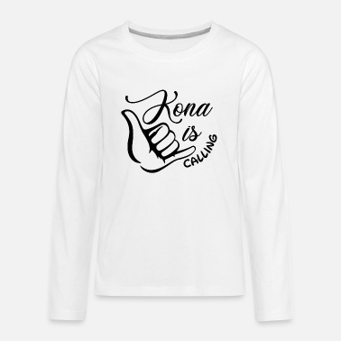 Triathlon - Kona is calling - Teenager Premium Langarmshirt