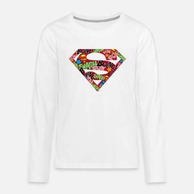 DC Comics Superman Classic Logo Soundwords - Teenager premium longsleeve