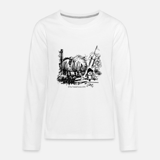 Thelwell Long sleeve shirts - PonyFail Thelwell Cartoon - Teenage Premium Longsleeve Shirt white