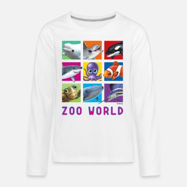 PD Moreno Zoo World animaux marins - T-shirt manches longues premium Ado