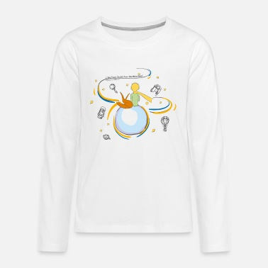 The Little Prince And Fox on Planet B612 - Teenage Premium Longsleeve Shirt