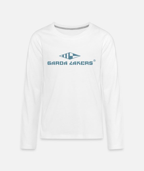 Sail Boat Long-Sleeved Shirts - Garda Lakers logo - Teenage Premium Longsleeve Shirt white