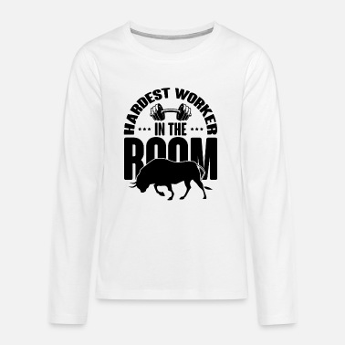 Weights HARDEST WORKER IN THE ROOM Muscle Shirt Power Lift - Teenage Premium Longsleeve Shirt
