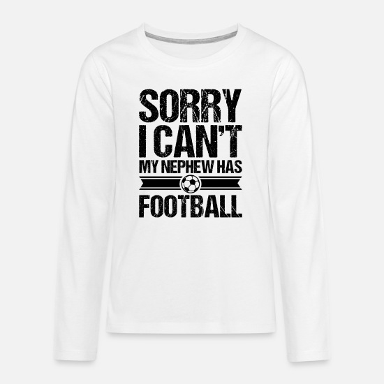 Birthday Long sleeve shirts - Uncle nephew football - Teenage Premium Longsleeve Shirt white