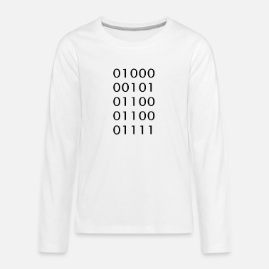 Binary code Ascii Hello - Teenage Premium Longsleeve Shirt