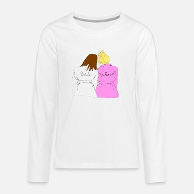 Bride + Bridesmaid - Teenage Premium Longsleeve Shirt