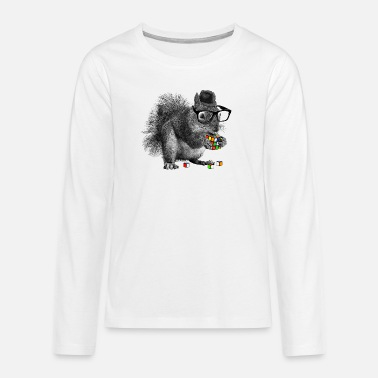 Officialbrands Rubik's Squirrel - Teenage Premium Longsleeve Shirt