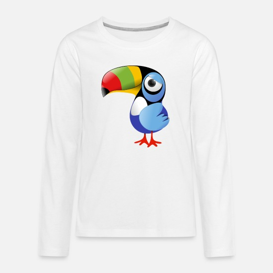 Collection For Kids Långärmade T-shirts - Toucan - Långärmad premium T-shirt tonåring vit