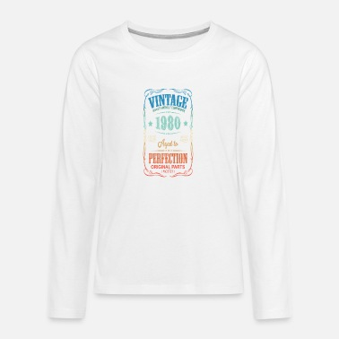 Retro Vintage 1980 Classic 40th Birthday Gift - Teenage Premium Longsleeve Shirt