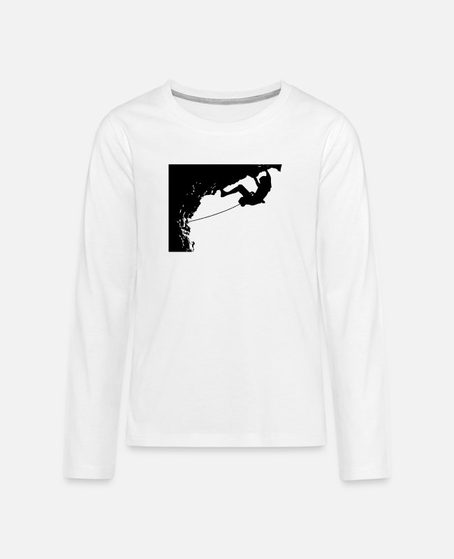 Sport Climbing Long-Sleeved Shirts - Climbing_overhang - Teenage Premium Longsleeve Shirt white