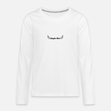 Simple Shirt - Teenager Premium Langarmshirt