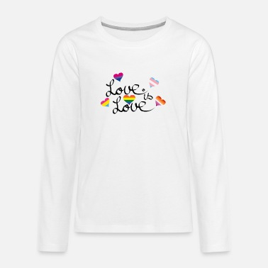 Love is love - Teenage Premium Longsleeve Shirt