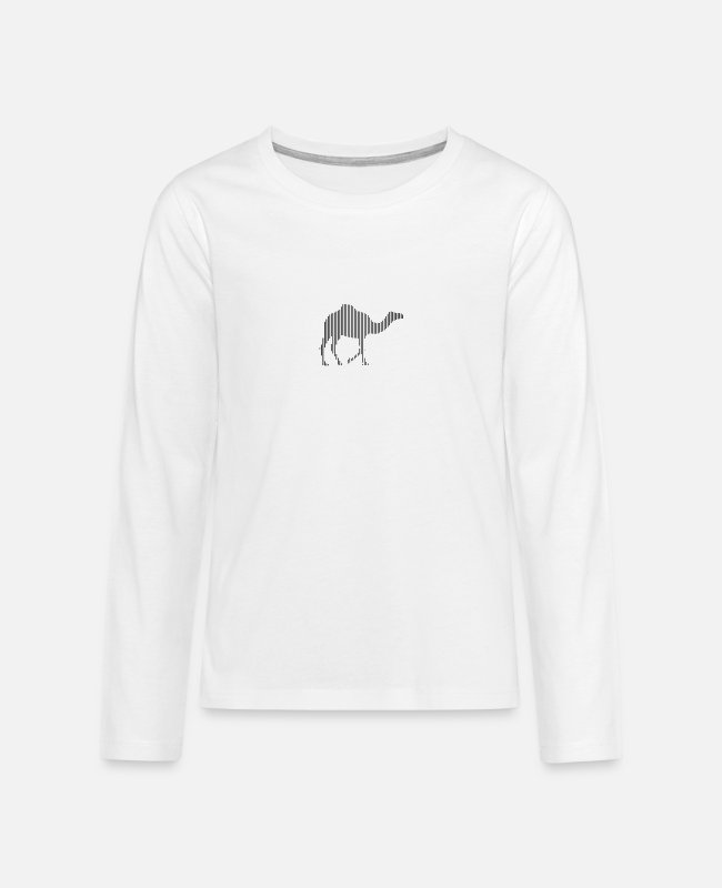 Zoo Animal Long-Sleeved Shirts - dromedary - Teenage Premium Longsleeve Shirt white