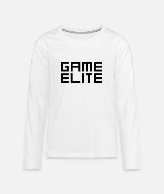 Life Force Long-Sleeved Shirts - Game Elite - Teenage Premium Longsleeve Shirt white