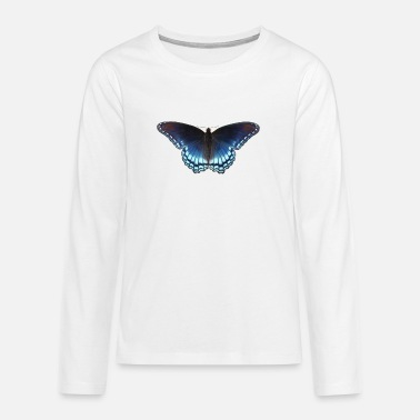 Butterfly in blue with great gradient - Teenage Premium Longsleeve Shirt