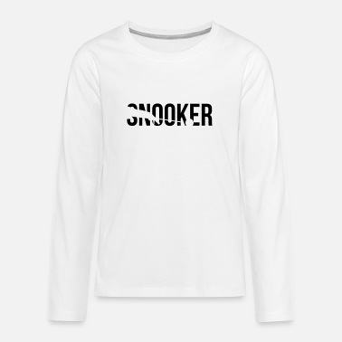 Snooker snooker - Teenage Premium Longsleeve Shirt
