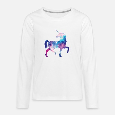 Unicorn with constellation design - Teenage Premium Longsleeve Shirt