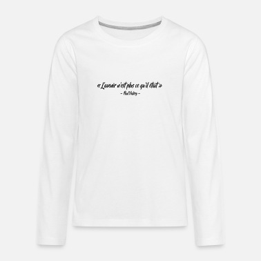 The future is not what it was - Teenage Premium Longsleeve Shirt