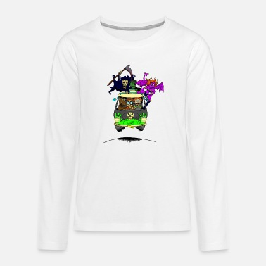 Scooby No Scooby fan art final - Teenage Premium Longsleeve Shirt