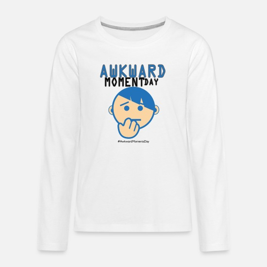 Gift Idea Long sleeve shirts - Day of Embarrassing moments - Teenage Premium Longsleeve Shirt white
