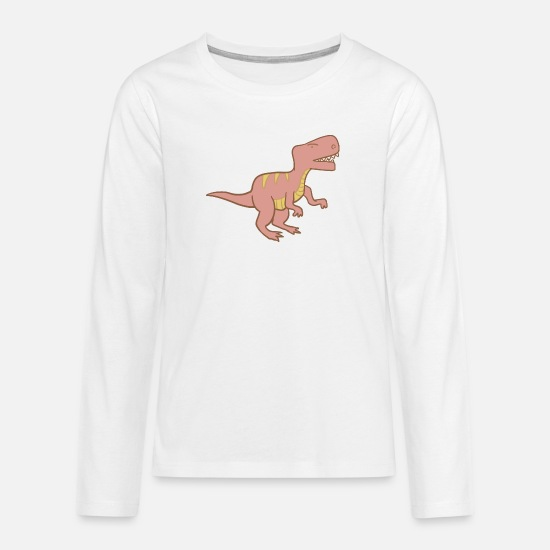 Dinosaurs Long sleeve shirts - Dino #kidscontest - Teenage Premium Longsleeve Shirt white