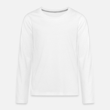 Stasi DDR Coat of Arms (white) - Teenage Premium Longsleeve Shirt