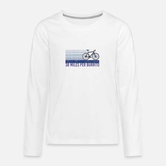 Average Long Sleeve Shirts - 38 miles for a bureau - Teenage Premium Longsleeve Shirt white