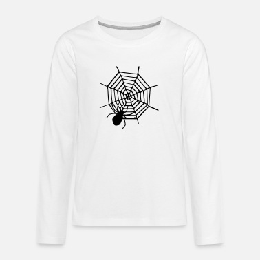 Spider - Spider - Insect - Horror - Halloween - Teenager premium longsleeve