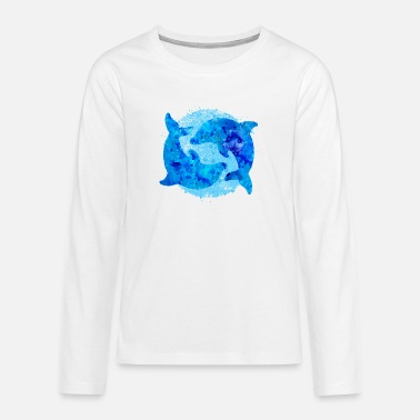 Dolphins (water colors) - Teenage Premium Longsleeve Shirt