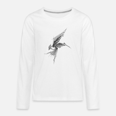 Graphic Art Mandala Bird Geometric Graphic Art Tattoo Bird - Teenager premium longsleeve