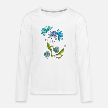 Flowers - Teenage Premium Longsleeve Shirt
