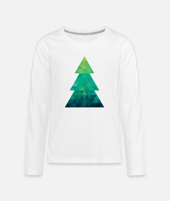 Christmas Long-Sleeved Shirts - Modern style Christmas tree XMAS - Teenage Premium Longsleeve Shirt white