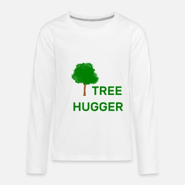 Hugging trees - Teenage Premium Longsleeve Shirt