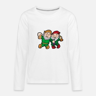 ST PATRICK'S DAY GNOME PARTY Leprechaun green beer - Teenage Premium Longsleeve Shirt