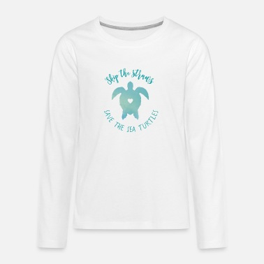 Coral Sea turtle - Preventing pollution - Teenage Premium Longsleeve Shirt