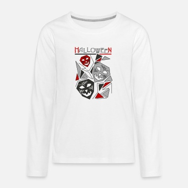 Dark Halloween Dark - Premium langærmet T-shirt teenager