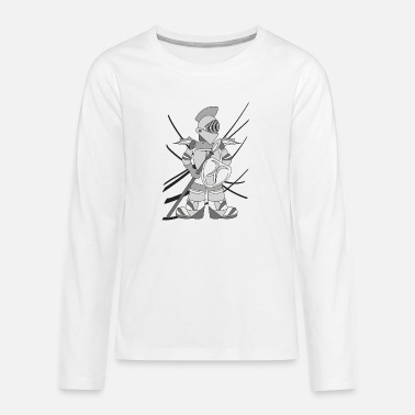 metallic robot - Teenage Premium Longsleeve Shirt