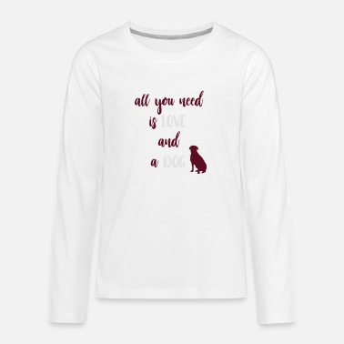 I Love Dog Lover - Premium langærmet T-shirt teenager