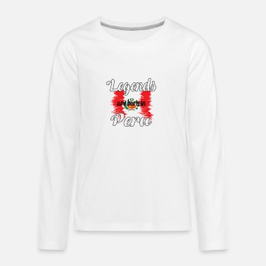 Legends are born in Peru - Teenage Premium Longsleeve Shirt