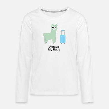 Alpaca My Bags (Green) - Teenage Premium Longsleeve Shirt