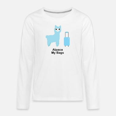 Alpaca My Bags (Blue) - Teenage Premium Longsleeve Shirt